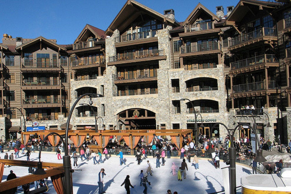 The ice rink at Northstar