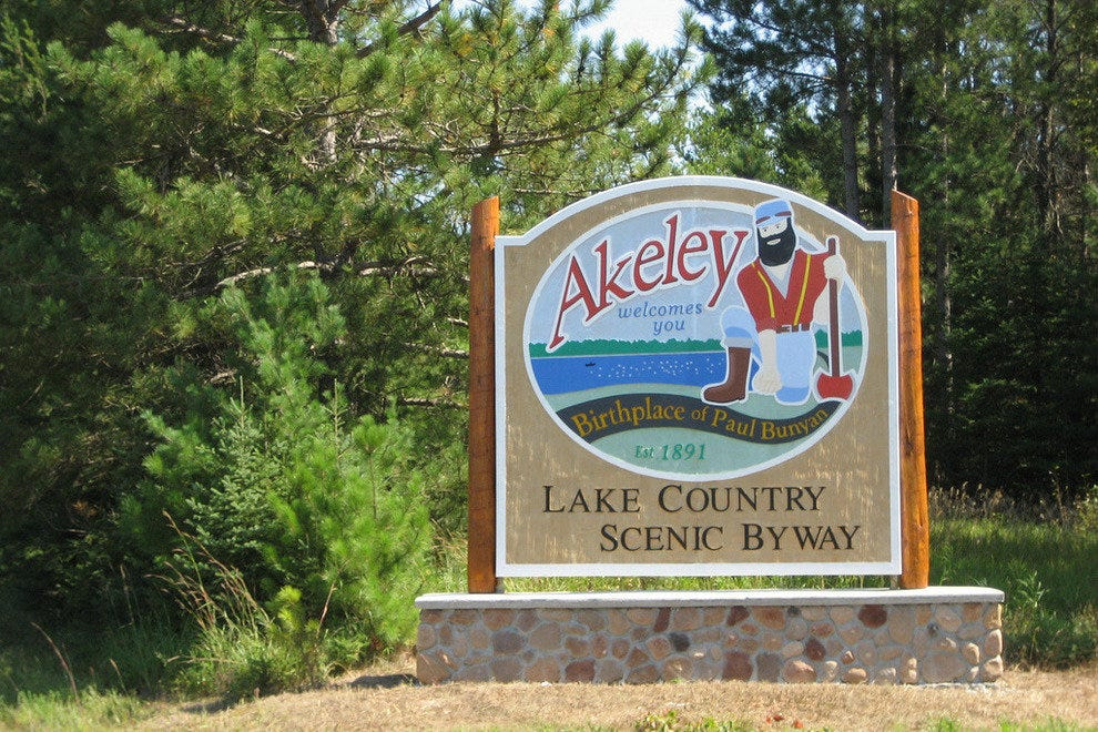 Akeley, Minnesota - home of Paul Bunyon