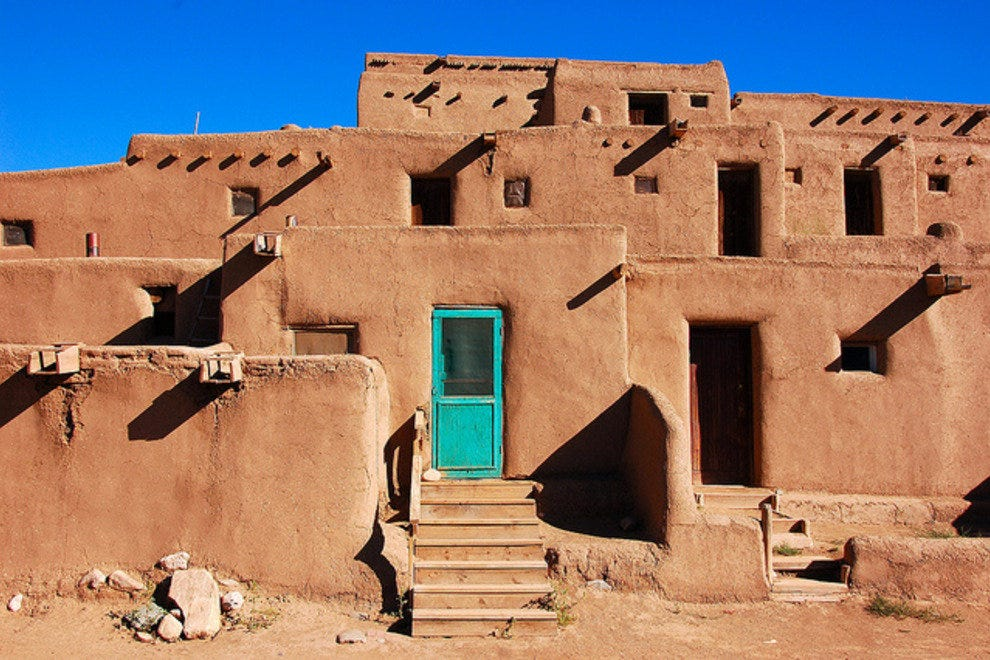 Taos in northern New Mexico is less than 3 hours from Albuquerque airport
