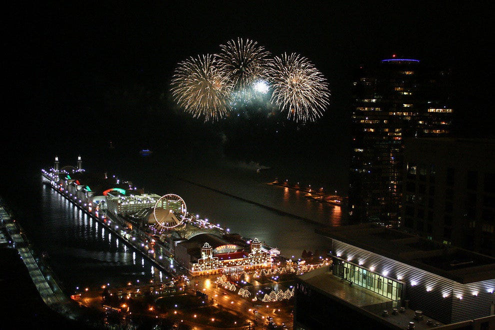 Fireworks at Chicago's Navy Pier