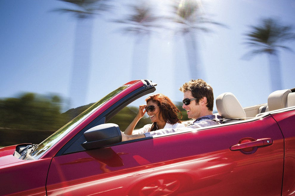 Couple in Convertible, Palm Springs, Ca