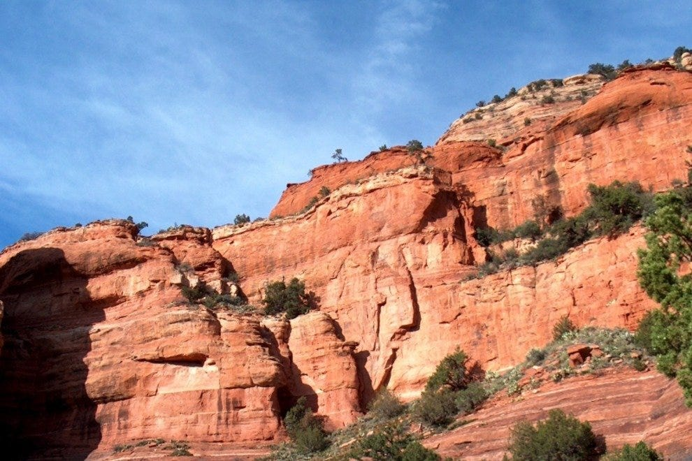 The beautiful, red-hued cliffs of the Southwest.