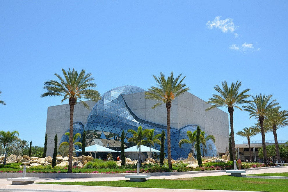 The architecture of the Dali Museum is as interesting as the works inside