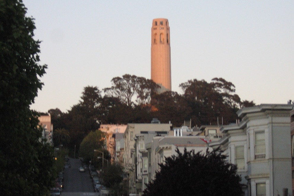 Coit Tower, just one of the memorable views on the Butterlap route