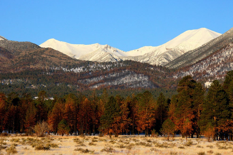 San Francisco Peaks and Snowbowl just outside of Flagstaff