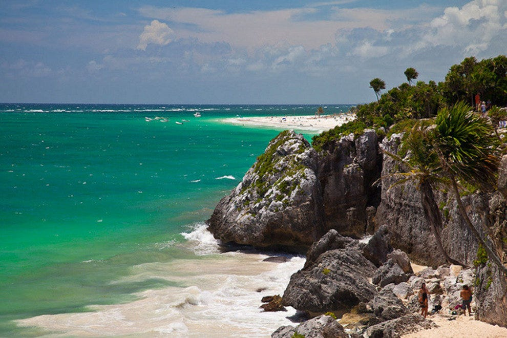 The gorgeous beaches of Tulum