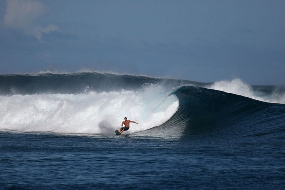 Surfing the Thunders reef break