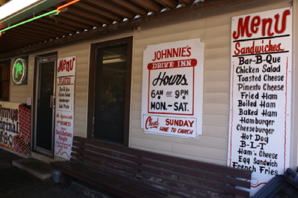 Johnnie's Drive-In is still a Tupelo institution; a cheeseburger, fries and cola will set you back about $5 these days.