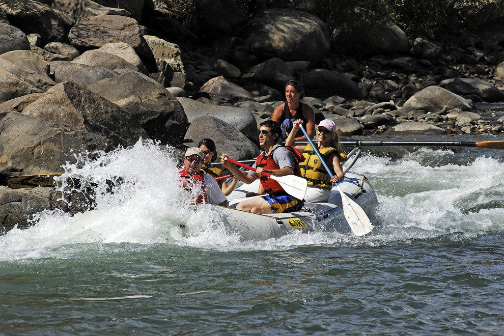 Rafting the Animas in Durango, Colorado.