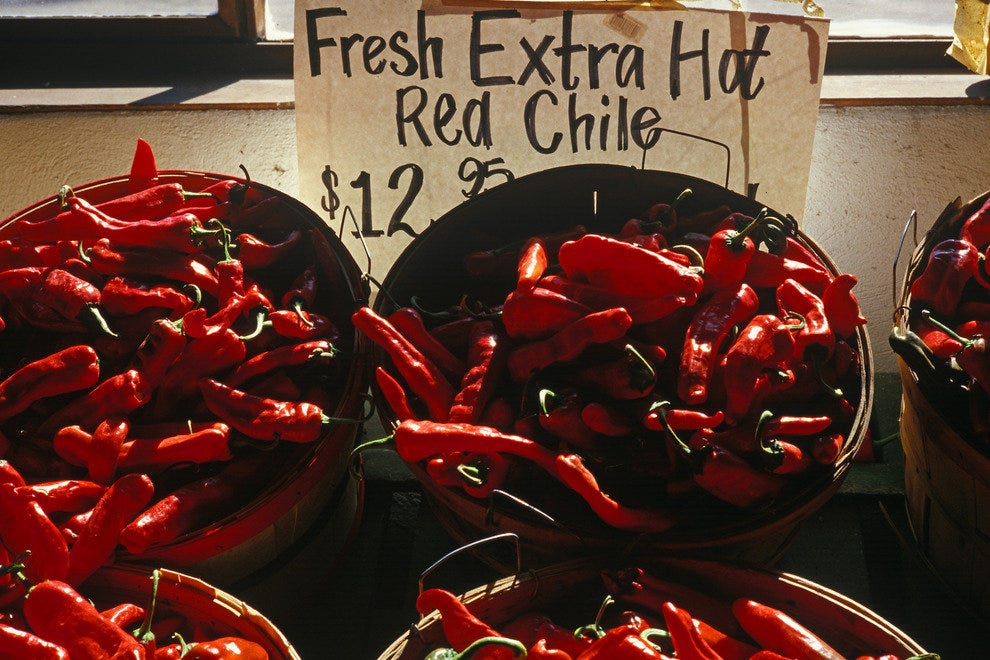 Red chile pods for sale in Corrales, N.M.