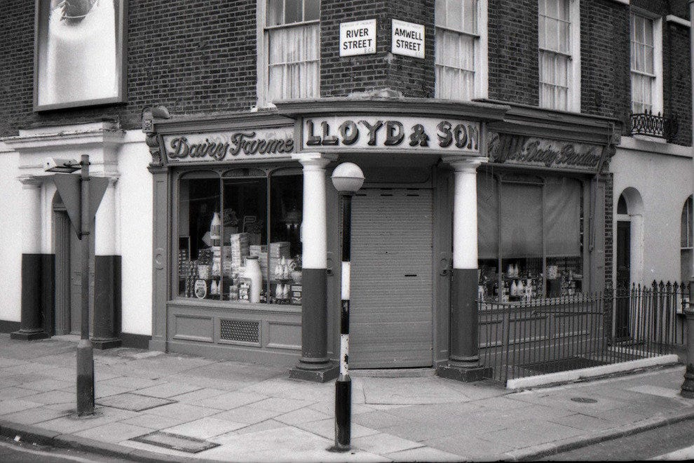 Independent Shops on Amwell Street, London