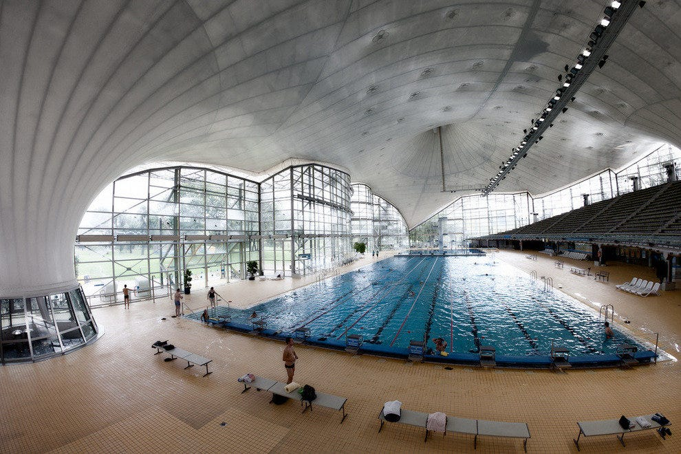 The Olympiapark swimming pool