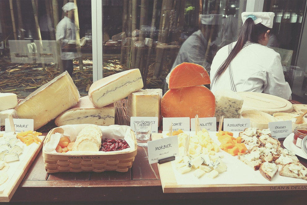 Artisanal cheese selection