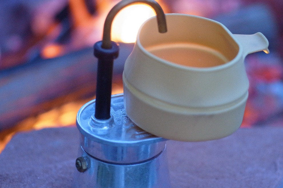 Small camping espresso makers pack a punch in a small space, but only make one cup at a time