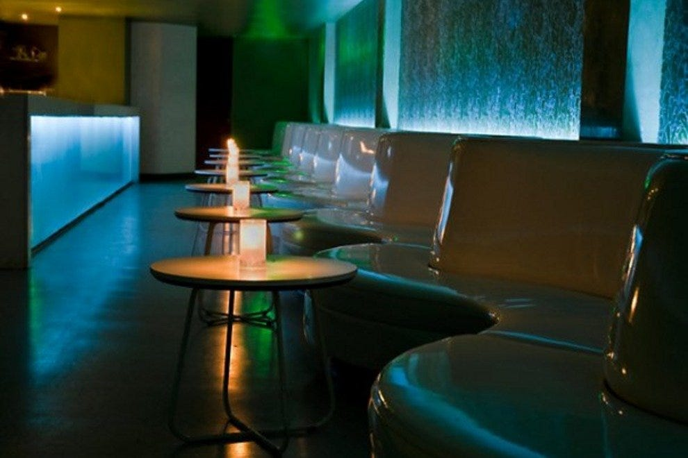 Soft lighting and contemporary decor give off a relaxed vibe at Aja