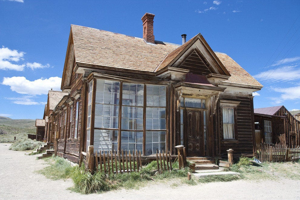 The ghost town of Bodie still has some well-preserved homes from the 1880s