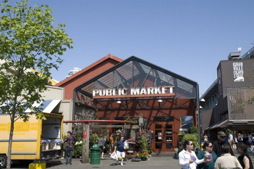 The farmers market is located right outside from the Public Market