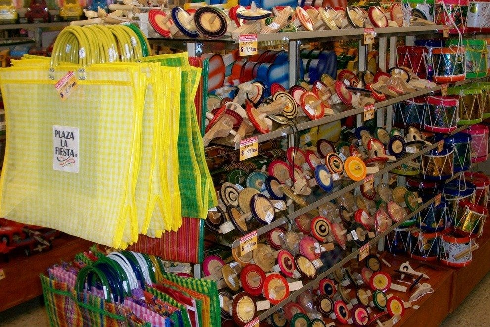 Plaza Fiesta has every type of Mexican souvenir that you can imagine