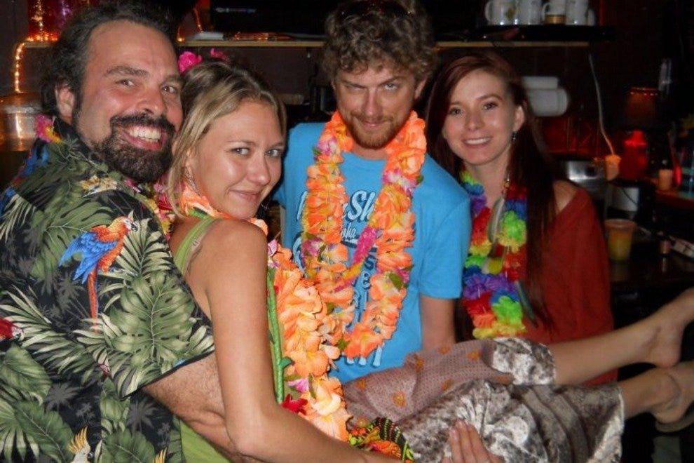 The kava gang at the one year anniversary luau