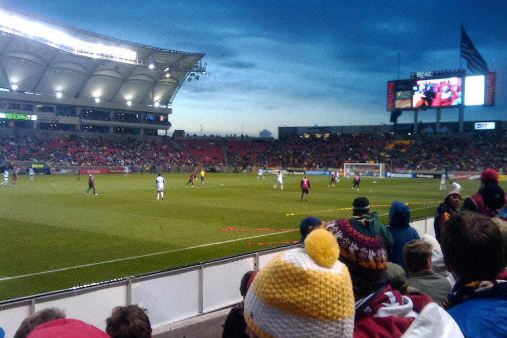 Real playing a home game in the Rio Tinto Center