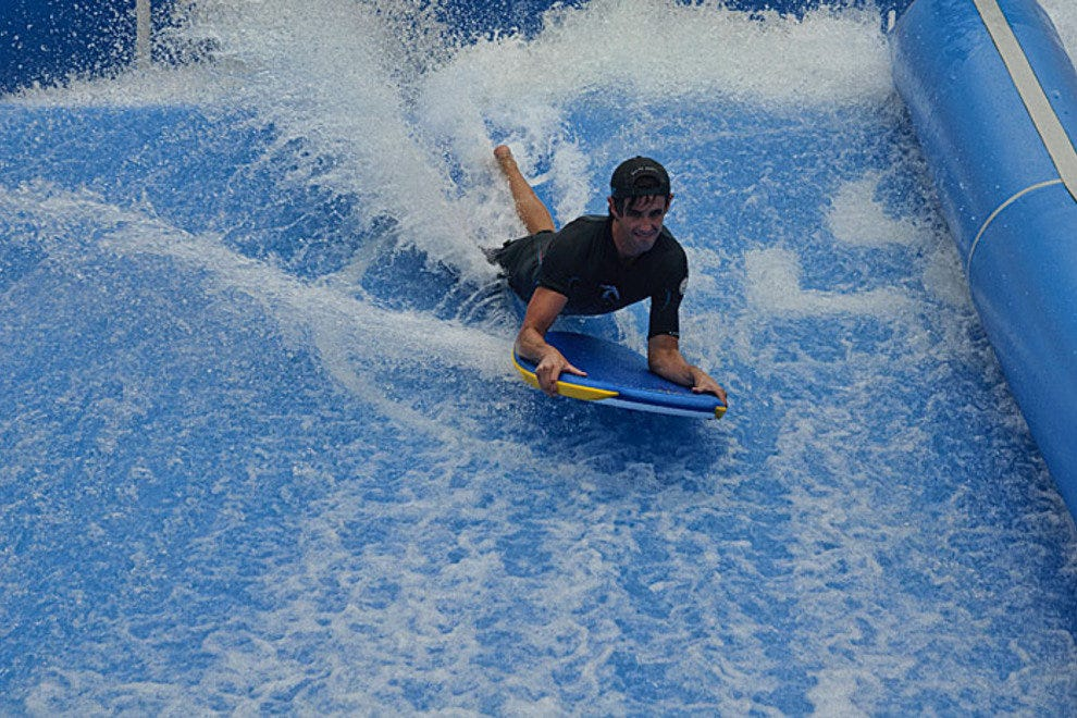 Boogie boarding at Flowhouse