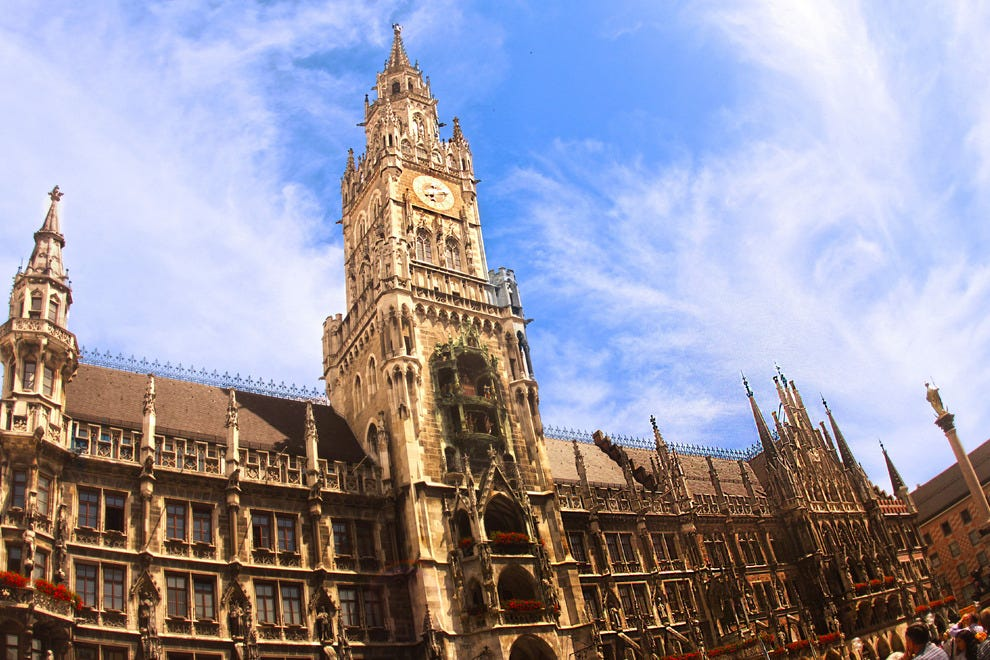 Marienplatz in Munich, Bavaria, Germany