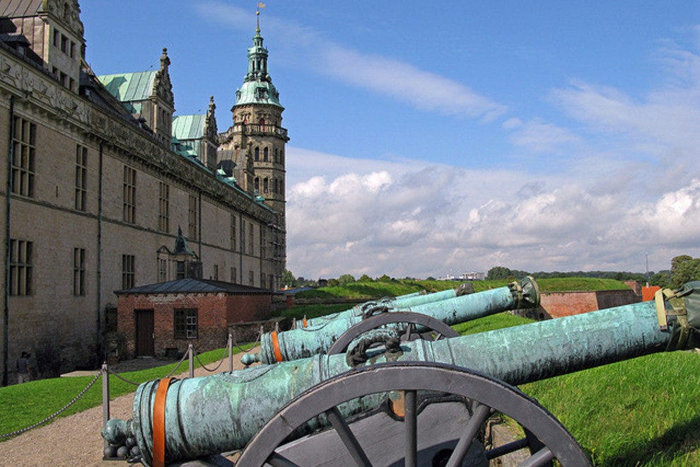 Cannons outside Kronborg Castle.