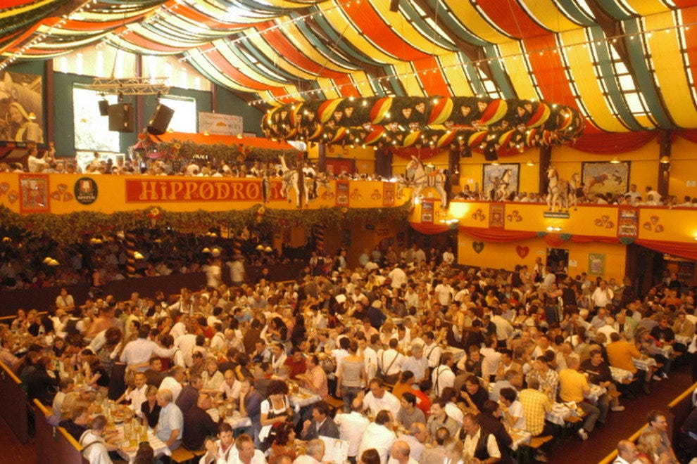 Beer hall during Munich's Oktoberfest