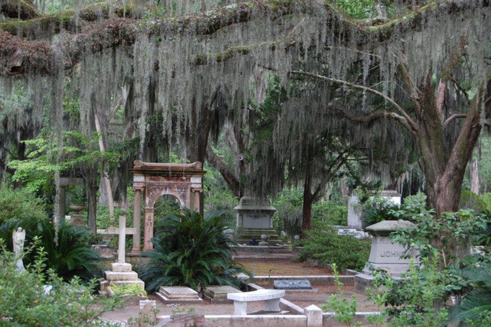 Bonaventure Cemetery is one of Savannah's many haunted destinations