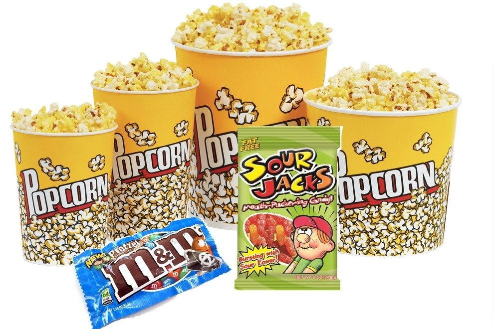 Popcorn, M&Ms and Sour Jacks