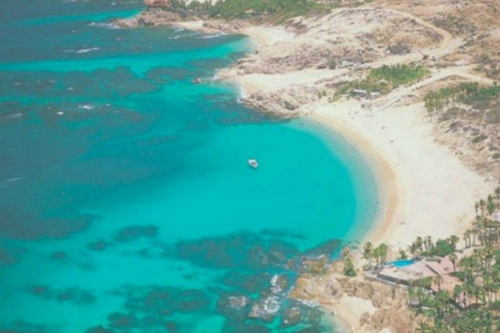 The beautiful blue waters of Chileno Bay.