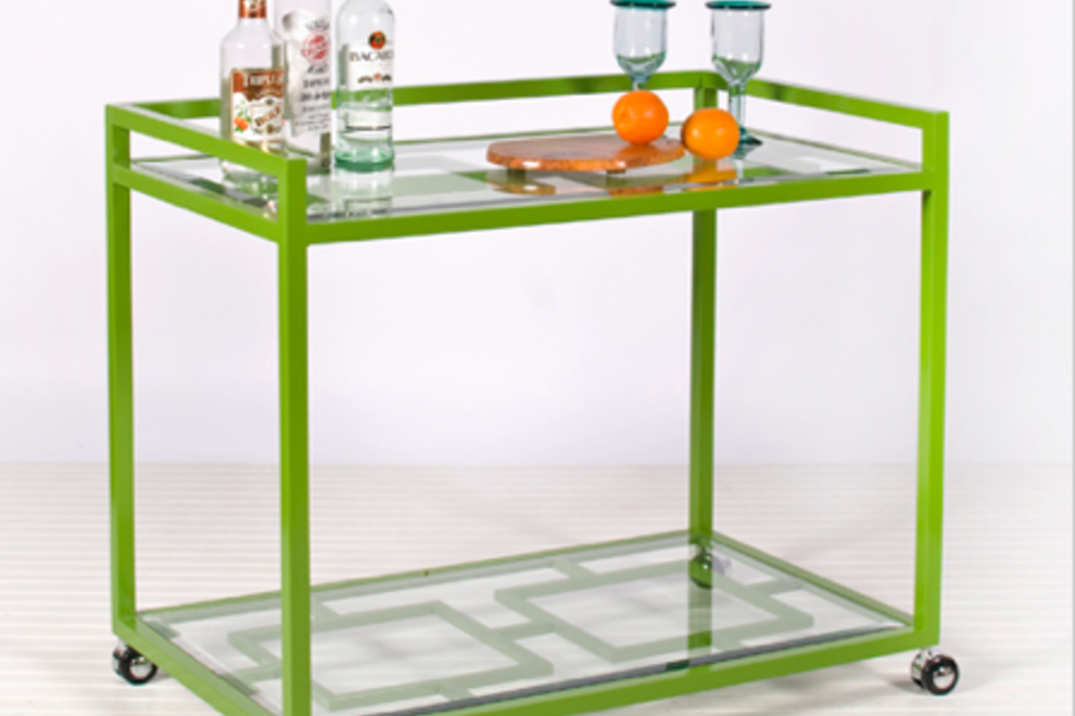 A nifty bar cart at World's Apart.
