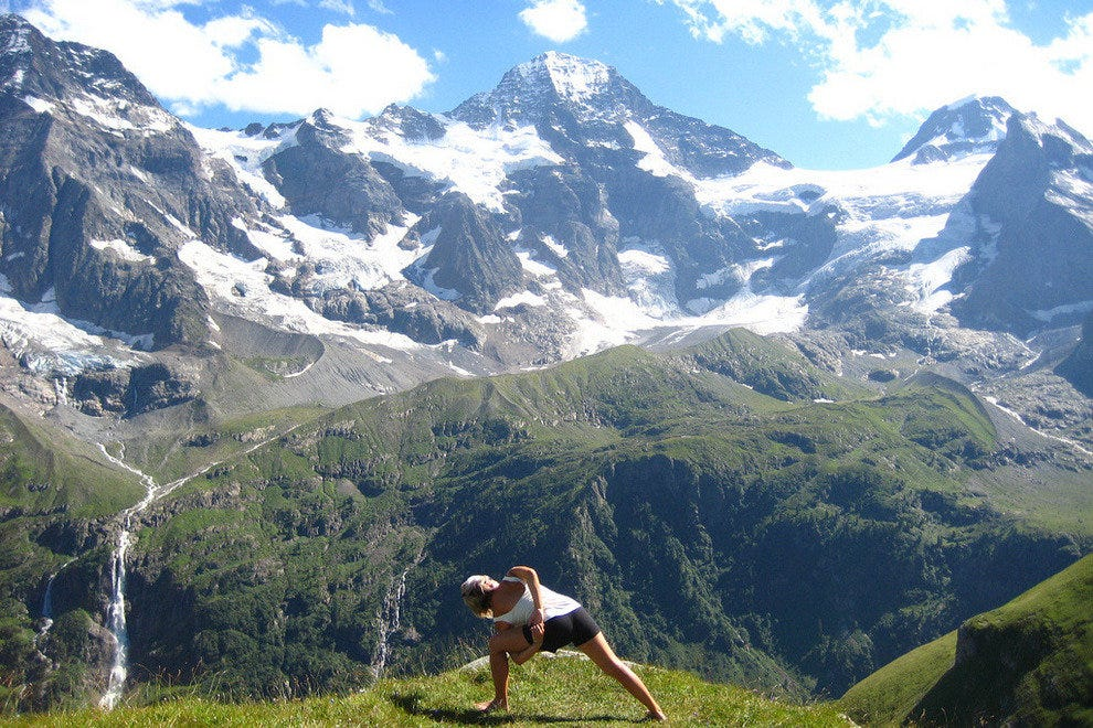 A little alpine fresh air, a little yoga, a little sunshine