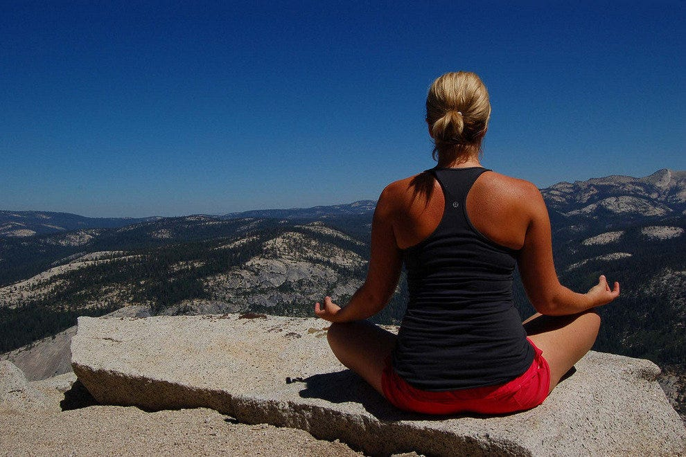Half-Dome Rocks as a Spot for Yoga