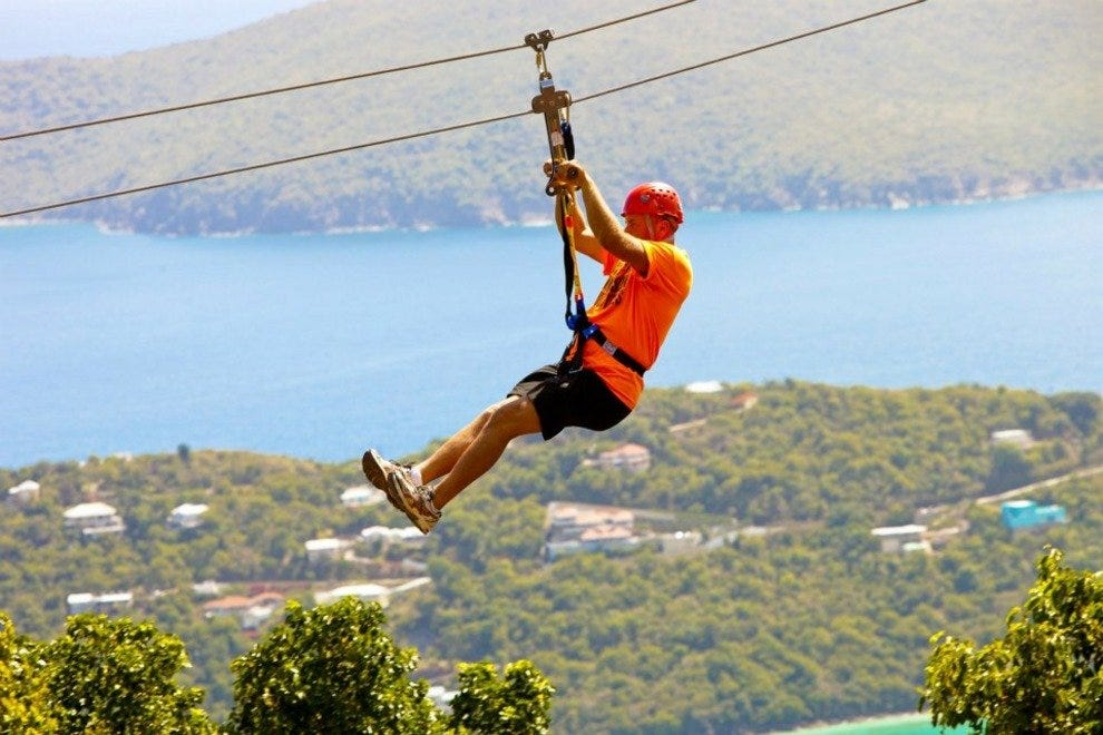 Tree Limin Extreme Zipline offers incomparable views of the Caribbean