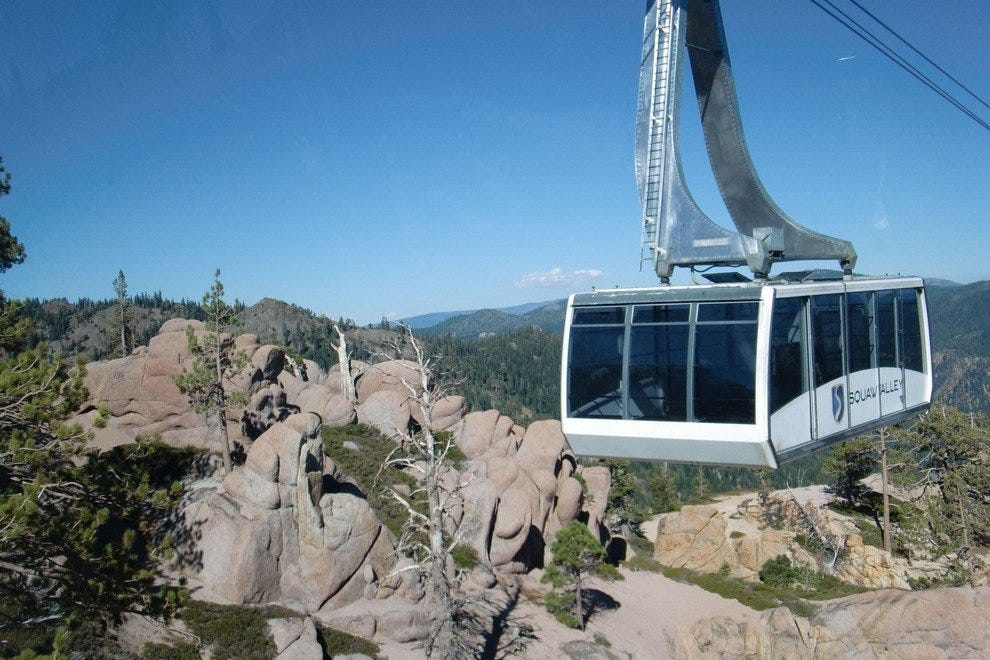 The Aerial Tram shot from the partner tram