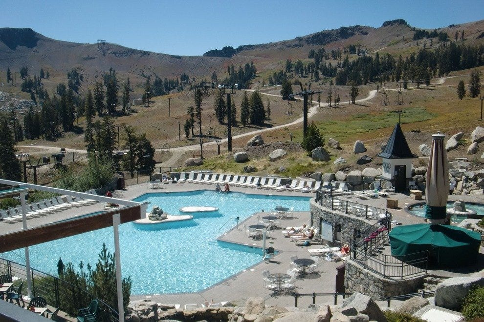 High Camp's pool area