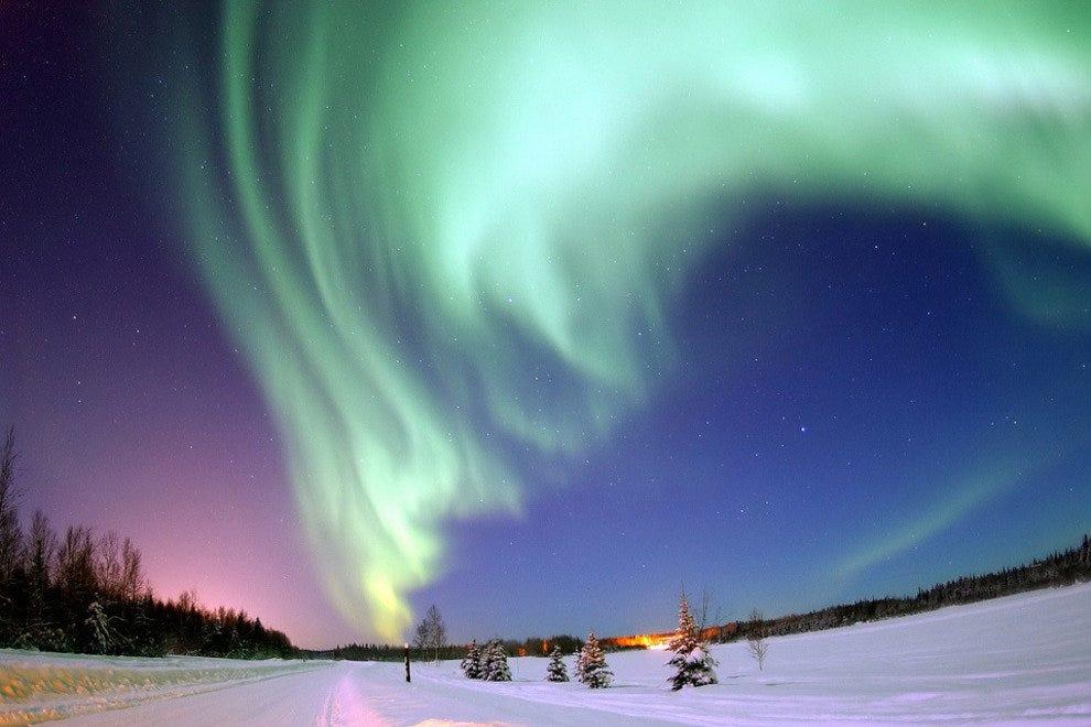Aurora Borealis as seen from Alaska