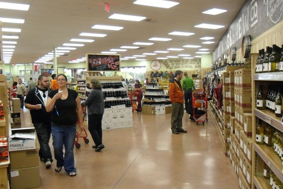 This store also offers a wide selection of wine and craft beer.