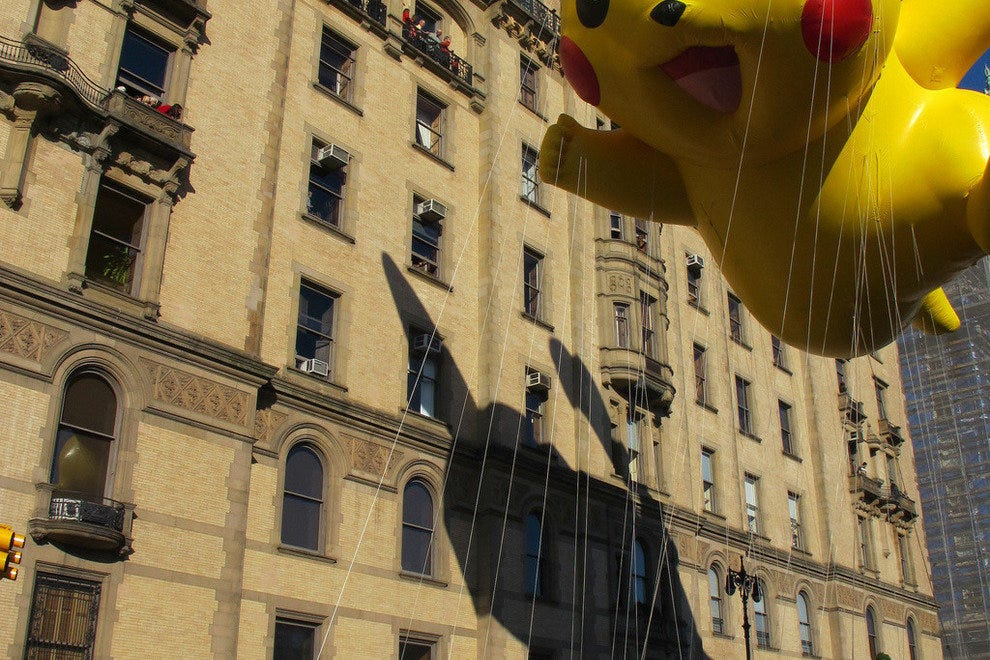 Pokemon float at the Macy's Thanksgiving Day Parade