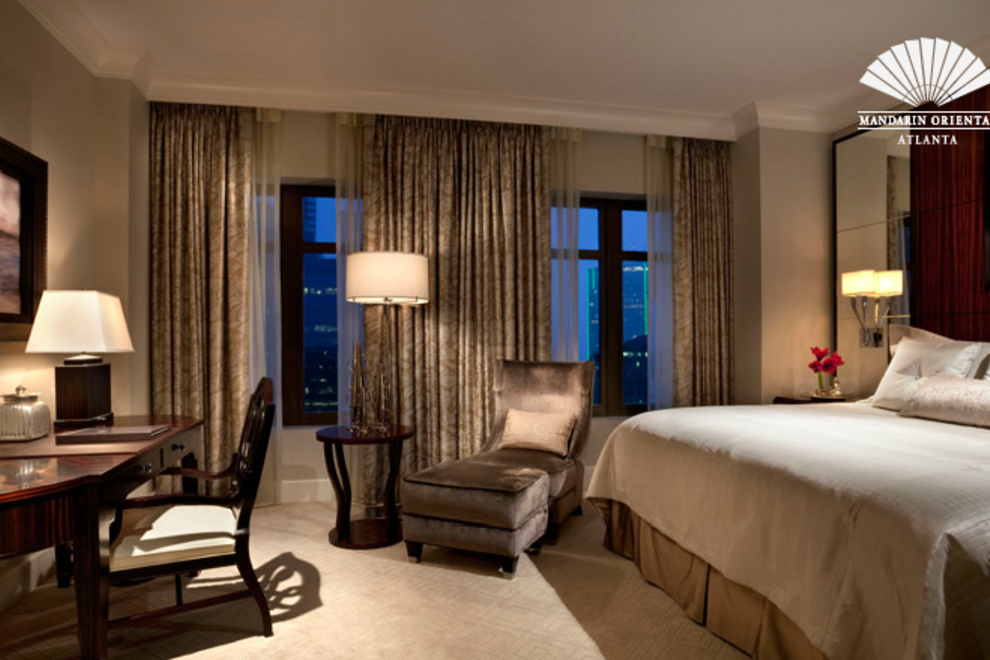 Guest room at Mandarin Oriental