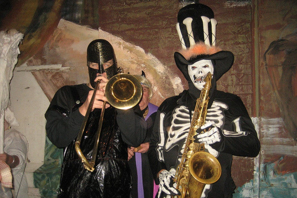 Ghouls and goblins don their brass for Halloween in New Orleans