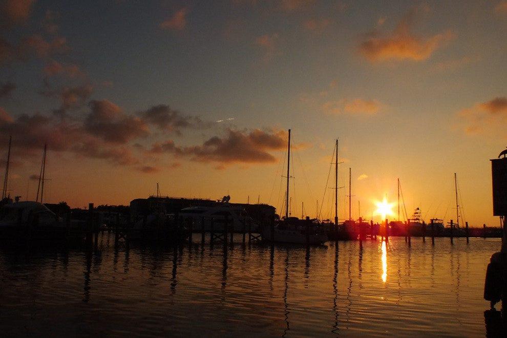 The sunset in the Key West harbor