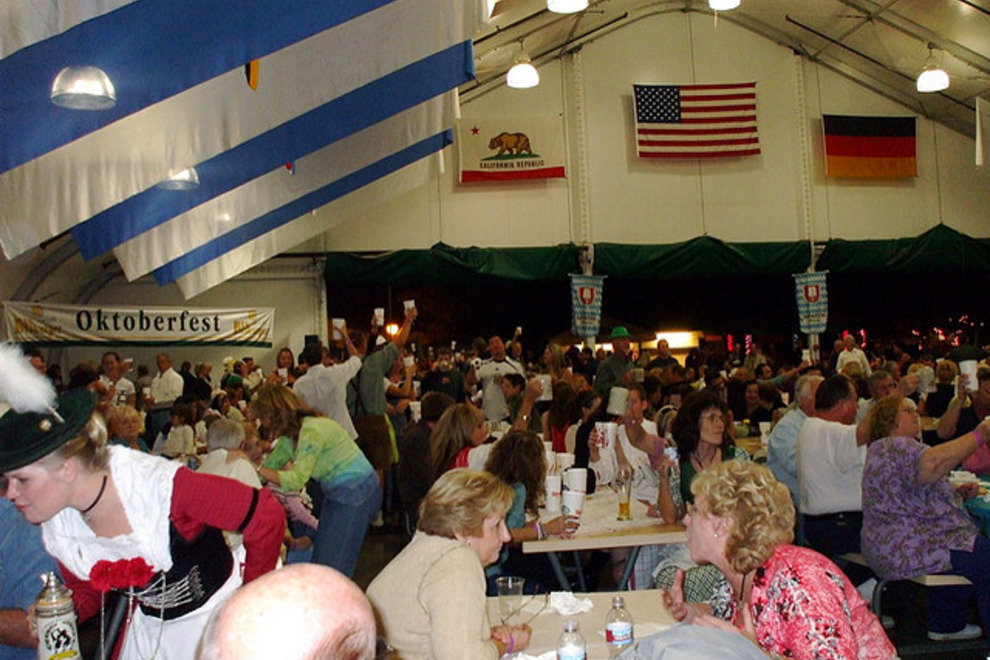 Inside the beer tent at Phoenix Oktoberfest