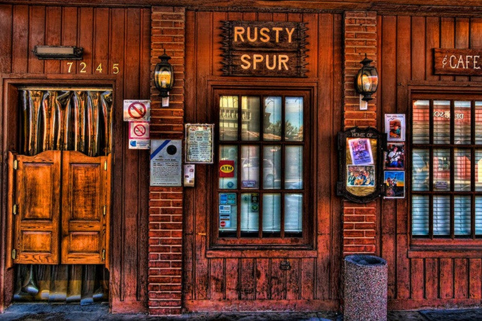 Play cowboy for a day at Scottsdale's oldest saloon, the Rusty Spur Saloon.