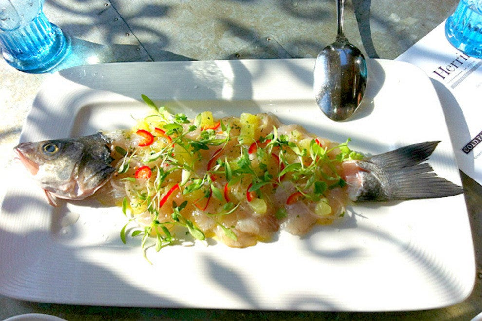 A must order: the whole fish ceviche
