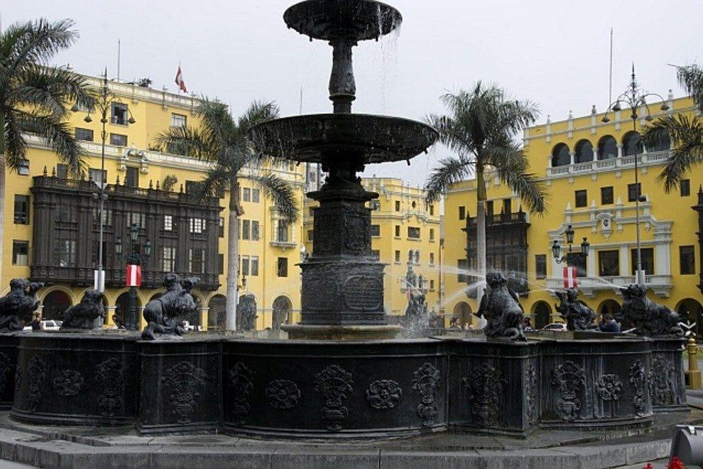 市长黄铜喷泉广场