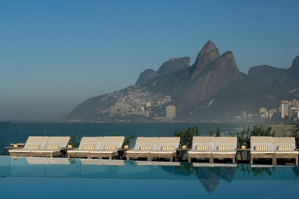The rooftop infinity pool is the crowning glory at Fasano Rio