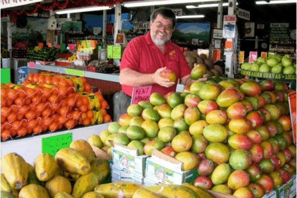 Robert Moehling displays his favorite mangos