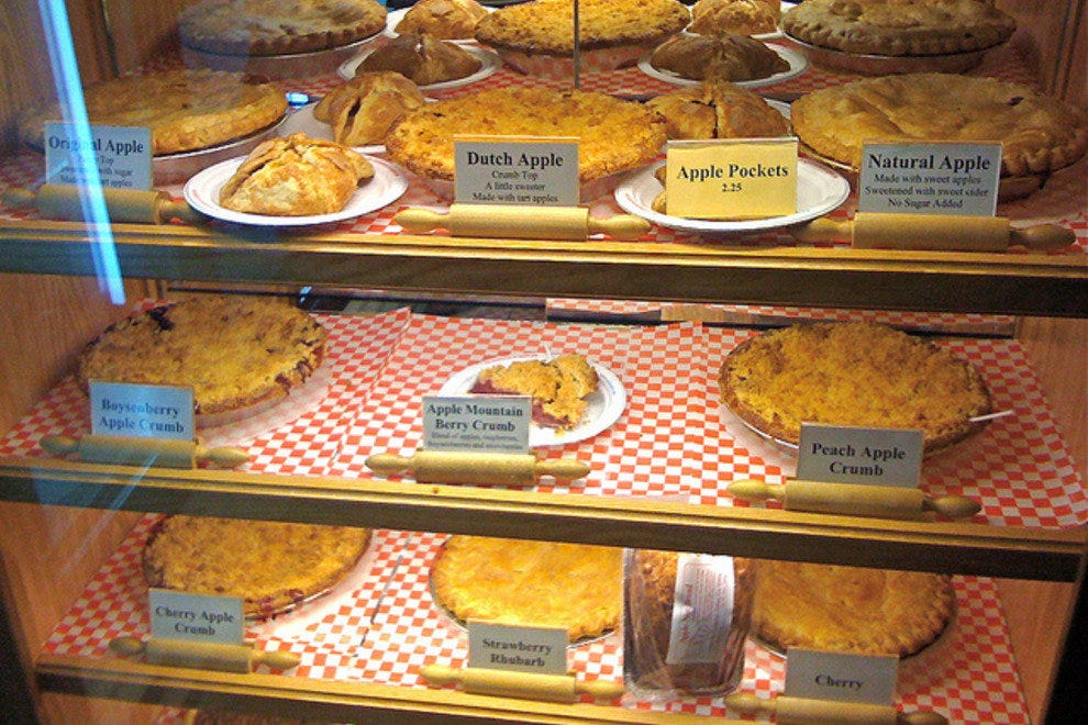 Shelves of pies